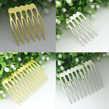 10Pcs Women Silver Gold Plated Metal Combs Clip Pin Hair Accessories