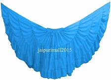 Teal Blue Chiffon Gypsy 32 Yard Skirt Tribal Fusion Belly Dance Skirt ATS SKIRT