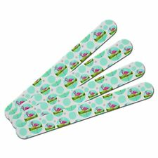 Double-Sided Nail File Emery Board Set 4 Pack Birds and Raptors