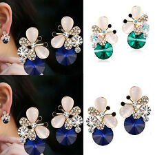 1 pair Hot Elegant Stud Earrings Asymmetric Butterfly Jewelry Women Rhinestone
