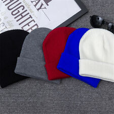 Winter Unisex Women Men Knit Crochet Wool Hat Couple Warm Cap