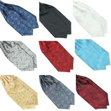 Ascot Tie Cravat Mens Neck Tie Satin Scarf Self Tie Wedding Scarf Multicolor Hot