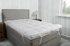 "LUXURY 2"" THICK SUPERSOFT HEAVY FILL MICROFIBRE MATTRESS TOPPER ALL SIZES"