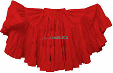 Red 25 Yard Skirt 4 Tiered Tribal Gypsy Cotton Skirt Belly Dance ATS DANCE Skirt