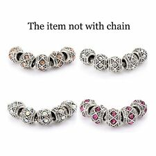 5pcs rainbow Crystal European Charms Charm Beads fit european bracelet lot