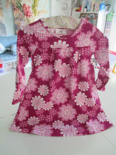 NWT Hanna Andersson girls pink and white beautiful flower play dress 90