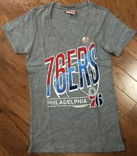 T-Shirts New Authentic Junk Food Womens Philadelphia 76ers Deep V-Neck Tee Shirt
