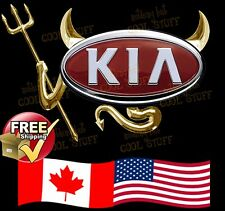 Kia ~ New 3D Gold , Red  or Chrome Devil Decal Sticker For Car Emblem Logo GTC