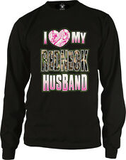 I Love My Redneck Husband Pink Heart Camo Southern Pride Long Sleeve Thermal