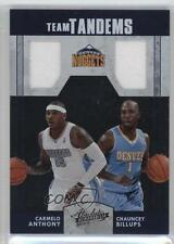 2010 Absolute Memorabilia Team Tandems #9 Carmelo Anthony Chauncey Billups Card