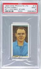 1958 Kane International Football Stars #16 Peter Farrell PSA 9 Everton Card
