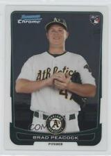 2012 Bowman Chrome #21 Brad Peacock Oakland Athletics RC Rookie Baseball Card