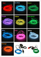 Sound Activated LED EL Light Glow Wire String Strip Tube Car Dance Party Control