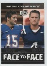 2010 Press Pass Portrait Edition Face to #9 Tim Tebow Jevan Snead Football Card