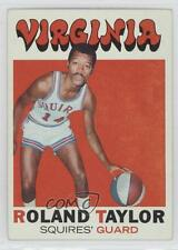 1971-72 Topps 173 Roland Taylor Virginia Squires (ABA) RC Rookie Basketball Card