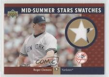 2003 Upper Deck Mid-Summer Stars Swatches #MS-RC Roger Clemens New York Yankees