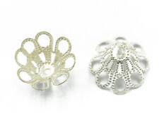 50pcs Spacer Bead Caps Filigree Bell Cone Dome Jewellery Beading Craft Findings