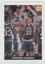 1992-93 Front Row Promo #N/A.2 Christian Laettner (Both Hands Up High Ten) Card
