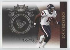 2010 Plates & Patches Infinity Silver #133 Dorin Dickerson Houston Texans Card