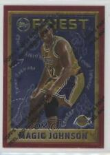 1995-96 Topps Finest #252 Magic Johnson Los Angeles Lakers Basketball Card