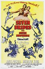 SEVEN BRIDES FOR SEVEN BROTHERS VINTAGE MOVIE POSTER FILM A4 A3 ART PRINT CINEMA