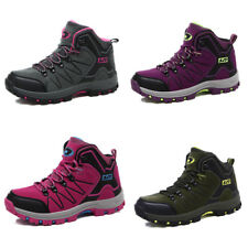 Women Fall Trail Hiking Boots Antiskid Breathable High Top Outdoor Shoes Gomnear