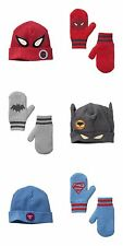 beanie hats  mittens NWT Baby Gap Junk Food super hero Batman Superman Spiderman