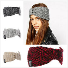 Autumn Winter Women Lady Girl Knitted Headband With Hair