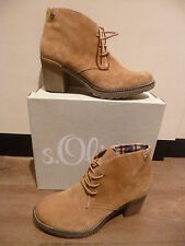 s.Oliver Women's Boots 25223 Ankle boots Lace up boots Boots Leather brown new
