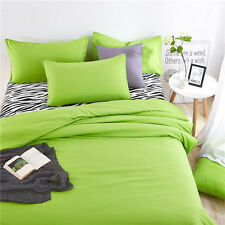 Green Single Queen King Bed Set Pillowcase Quilt Duvet Cover Zebra Lus