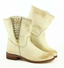 ital LADIES SHOES Ovye by Cristina Lucchi Real Leather Boots Strass Ankle boots