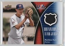 2009 Upper Deck USA 18U National Team Jersey #18U-MP Matthew Purke Matt Card