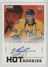 2013-14 Panini Rookie Anthology 747 Victor Bartley Nashville Predators Auto Card