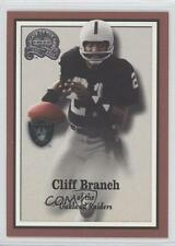 2000 Fleer Greats of the Game #17 Cliff Branch Oakland Raiders Football Card