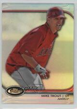 2012 Topps Finest Refractor #78 Mike Trout Texas Rangers Los Angeles Angels Card