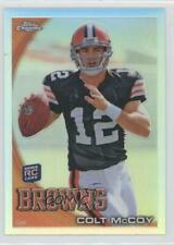 2010 Topps Chrome Refractor C70 Colt McCoy New York Giants Cleveland Browns Card