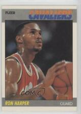 1987-88 Fleer #49 Ron Harper Cleveland Cavaliers RC Rookie Basketball Card