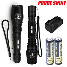 Tactical Flashlight Zoomable 5000lm CREE XM-L T6 LED Torch Light Rechargeable