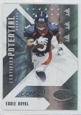 2008 Leaf Certified Materials Potential Mirror #CP-19 Eddie Royal Denver Broncos