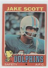1971 Topps #211 Jake Scott Miami Dolphins RC Rookie Football Card