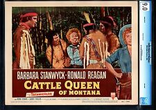 CATTLE QUEEN OF MONTANA-BARBARA STANWYCK MENACED-VF/NM-CGC 9.0 LOBBY CARD VF/NM