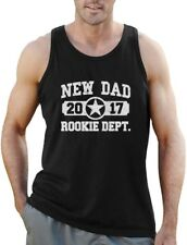 New Dad 2017 Rookie Department Gift for a New Father Singlet Father's Day