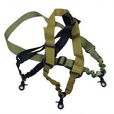 Timeproof Tactical Single one 1 Point Sling Rifle Gun Sling Bungee - Adjustable&