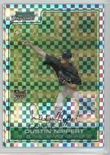2006 Bowman Draft Picks & Prospects Chrome X-Fractor #BDP30 Dustin Nippert Card