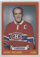 1973-74 Topps #87 Henri Richard Montreal Canadiens Hockey Card