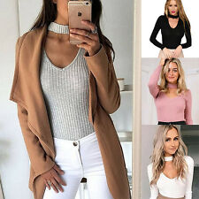 New Womens Winter Casual Long Sleeve Knitted Sweater Warm Cardigan Tops Knitwear