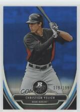 2013 Bowman Platinum Prospects Chrome Blue Refractor #BPCP12 Christian Yelich