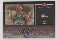 2005 Fleer Greats of the Game Autographed GG-SP Sam Perkins Auto Basketball Card
