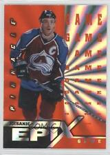 1997-98 Pinnacle Epix Orange Game #E3 Joe Sakic Colorado Avalanche Hockey Card