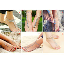 Beautiful Silver Anklets Sexy Ankle Bracelet Chain Adjustable Retro Foot Jewelry